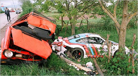 gumball 3000 crash mortel